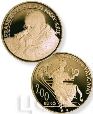 2015, 200 евро Ватикан, памятная монета - «Благоразумие», серия «Теологические добродетели».jpg
