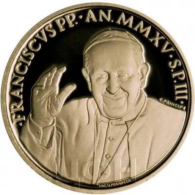 2015, 20 евро Ватикан, памятная монета - «Папский Храм Пресвятой Девы Марии Святого Розария», серия «Папские базилики»(аверс).jpg
