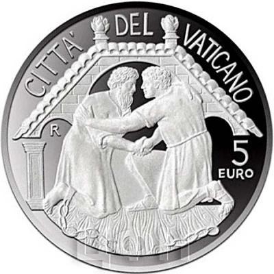 2015, 5 евро Ватикан, памятная монета - «48-й Всемирный день мира»(аверс).jpg