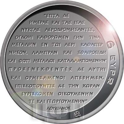 2019, 6 евро Греция, памятная монета - «50-летие высадке человека на Луне»(реверс).jpg