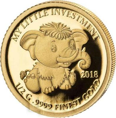 Соломоновы острова 10 долларов 2018 год «Слонёнок» (реверс).jpg