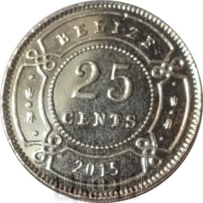 2015. Белиз 25 центов (аверс).jpg