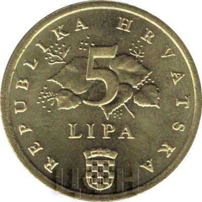 5 лип Хорватия (аверс).jpg