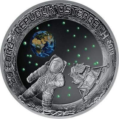 Австрия 20 евро 2019 год «Первая высадка на луну» (аверс).jpg