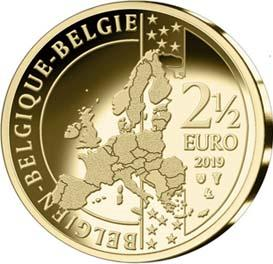 2019 год, 2 ½ евро Бельгия, памятная монета - «Тур де Франс» (аверс).jpg