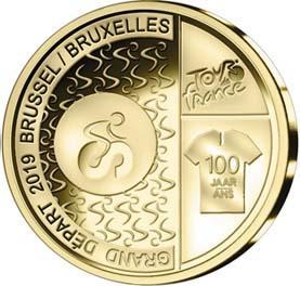 2019 год, 2 ½ евро Бельгия, памятная монета - «Тур де Франс» (реверс).jpg