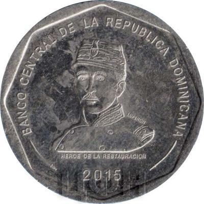 25 песо 2015 год, Доминиканская Республика(реверс).jpg