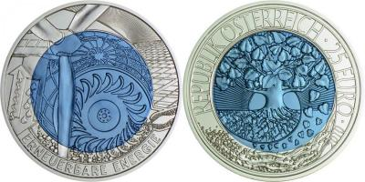 2010, Австрия 25 евро, «Возобновляемая энергия».jpg
