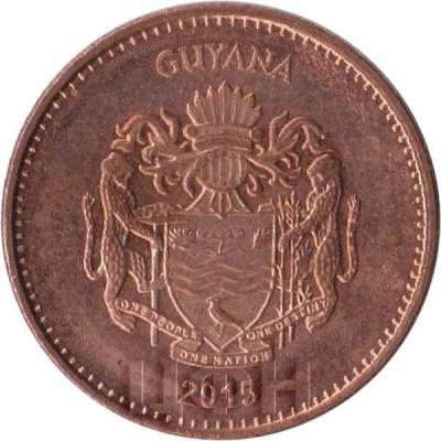 2015, 1 доллар Гайаны (аверс).jpg