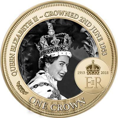 2018, Тристан-да-Кунья 1 крона «65 годовщине коронации» (ререрс).jpg