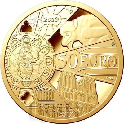 2019, 50 Франция - «Нотр-Дам-де-Пари» (аверс).jpg