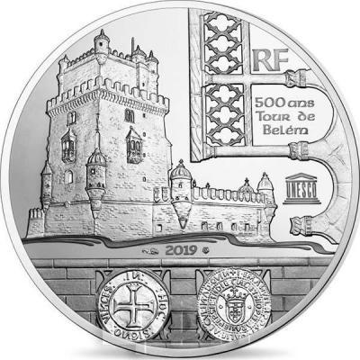 2019, 10 евро Франции - «Башня Торре-де-Белени Васко де Гама», программа «ЮНЕСКО» (реверс).jpg