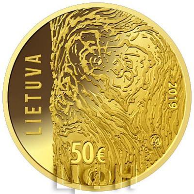 2019, 50 евро Литва, памятная монета - Движение борьбы за свободу Литвы (аверс).jpg