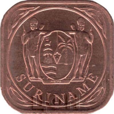 2015, монета Суринам (аверс).jpg