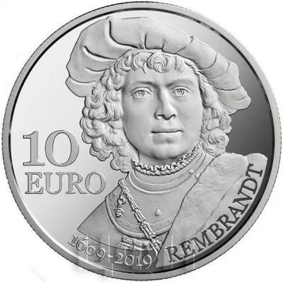 2019, Сан Марино 10 евро «Рембранд» (набор).jpg
