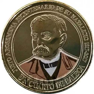 1.4 бальбоа Панама «JUSTO AROSEMENA BICENTENARIO DE SU NATALICIO 1817-2017»  (реверс).jpg