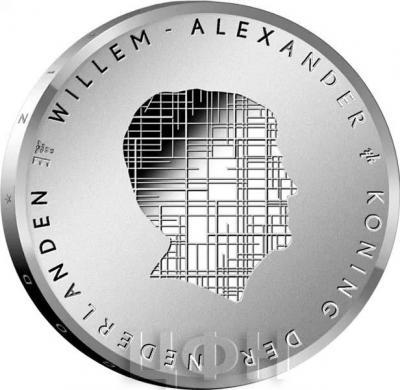 2019, 5 евро Нидерланды, памятная монета - «Польдер Бемстер» (аверс).jpg