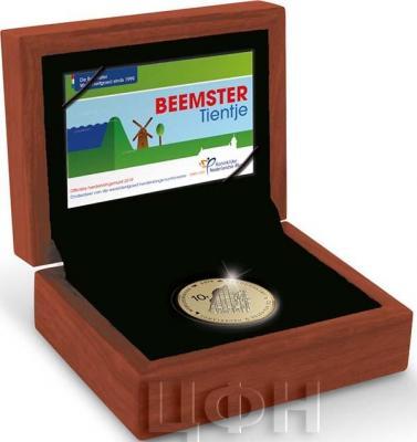2019, 10 евро Нидерланды, памятная монета - «Польдер Бемстер» (реверс).jpg