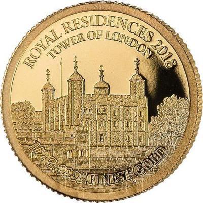 2019, Соломоновы Острова 10 долларов «ROYAL RESIDENCES 2018. TOWER OF LONDON» (реверс).jpg