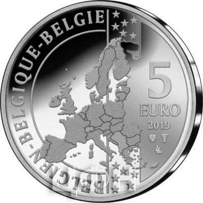 2019, Бельгия 5 евро (аверс).jpg