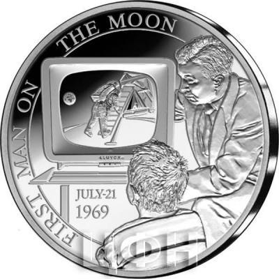 2019, Бельгия 5 евро «JULY-21 1969» (реверс).jpg