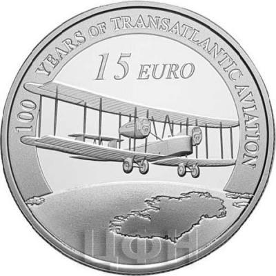 2019, Ирландия 15 евро «100 YEARS OF TRANSATLANTIC AVIATION» (реверс).jpg