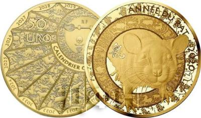 2020, Франция 50 евро «Год Крысы» (реверс).jpg