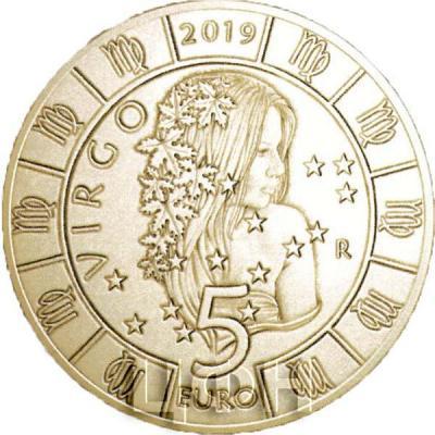 2019, Сан-Марино 5 евро «VIRGO» (реверс).jpg