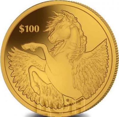 Британские Виргинские Острова 100 долларов «Пегас» (реверс).jpg