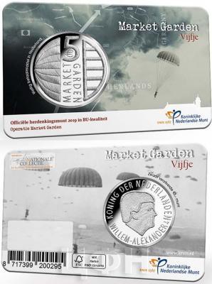 2019, Нидерланды 5 евро «Голландская операция 1944» (аверс).jpg