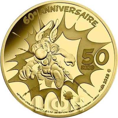 Франция 50 евро 2019 «Обеликс» (реверс).jpg