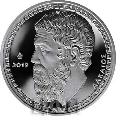 2019, Греция 10 евро «Алкей» (реверс).jpg