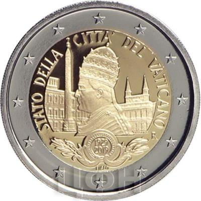 2019, 2 евро Ватикан, памятная монета - «Ватикан» (аверс).jpg