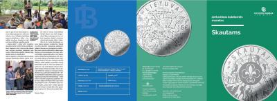 2019, 5 евро Литва, памятная монета - «Скауты».jpg