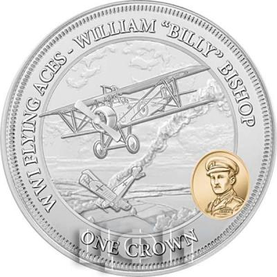 2018 год Тристан-да-Кунья 1 крона «WWI FLYING ACES - WILLIAM BISHOP» (реверс).jpg