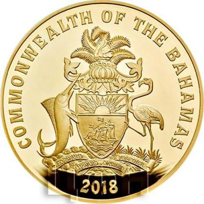 Багамские острова золотая монета 2018 год (аверс).jpg