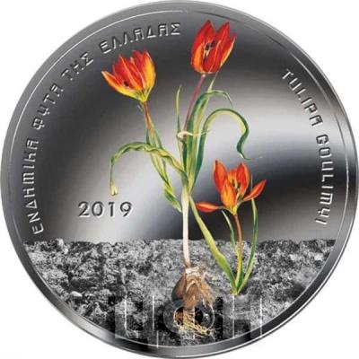 2019 Греция 5 евро «TULIPA GOULIMYI» (реверс).jpg