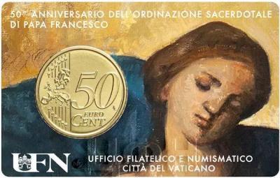 «50 ° anniversario dell'ordinazione sacerdotale di Papa Francesco» (реверс).jpg