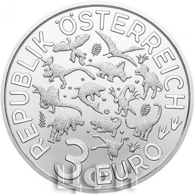 Австрия 3 евро «Динозавры» (аверс).jpg