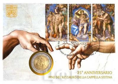 «CAPPELLA SISTINA - FINE DEI RESTAURI» (аверс).jpg