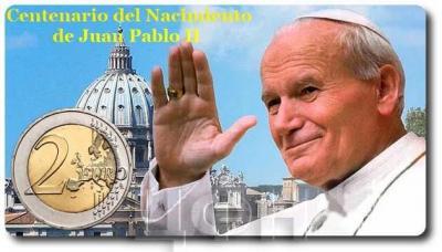 2 евро Ватикан 2020 год «Столетие со дня рождения Иоанна Павла II» (аверс).jpg