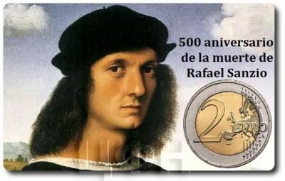 2 евро Ватикан 2020 год «500 лет со дня смерти Рафаэля» (аверс).jpg