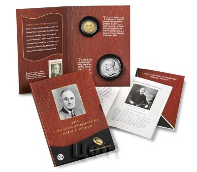 «2015 P Presidential Coin & Chronicles Set - Harry S. Truman (AX1) Uncirculated» Набор США 2015 года  (реверс).jpg