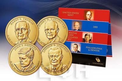 «Presidential $1 Coin Uncirculated Set» Набор США 2015 года (аверс).jpg