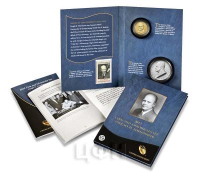 «2015 P Presidential Coin & Chronicles Set - Dwight D. Eisenhower (AX2) Reverse Proof» Набор США 2015 года  (реверс).jpg