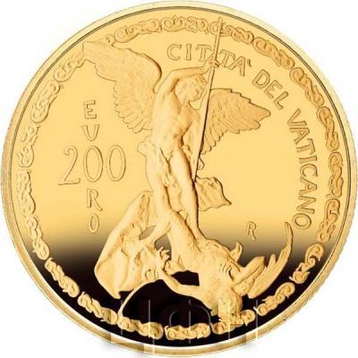 Ватикан 200€ 2019  «Архангел Михаил» (аверс).jpg