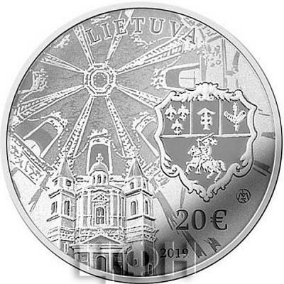 2019, 20 евро Литва, памятная монета - «Дворец Сапег (Вильнюс)» (аверс).jpg