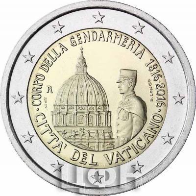 2 евро, Ватикан «200-летие Корпуса Жандармерии Ватикана» (реверс).jpg