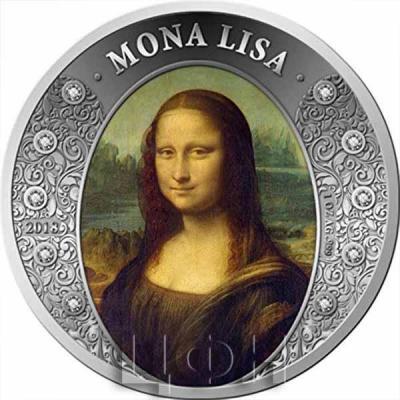 2018 GH Diamond Art PowerCoin MONA LISA 1 Oz Silver Coin 5 Cedis Ghana 2018 BU Brilliant Uncirculated.jpg