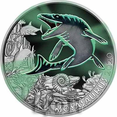 Австрия 3 евро 2020 год «MOSASAURUS» (аверс).jpg